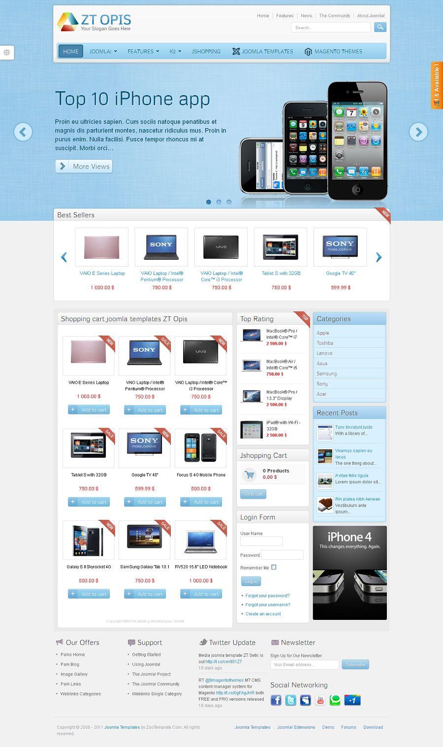ZT Opis - Premium Joomla eCommerce Template