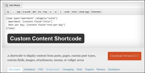short code using wordpress