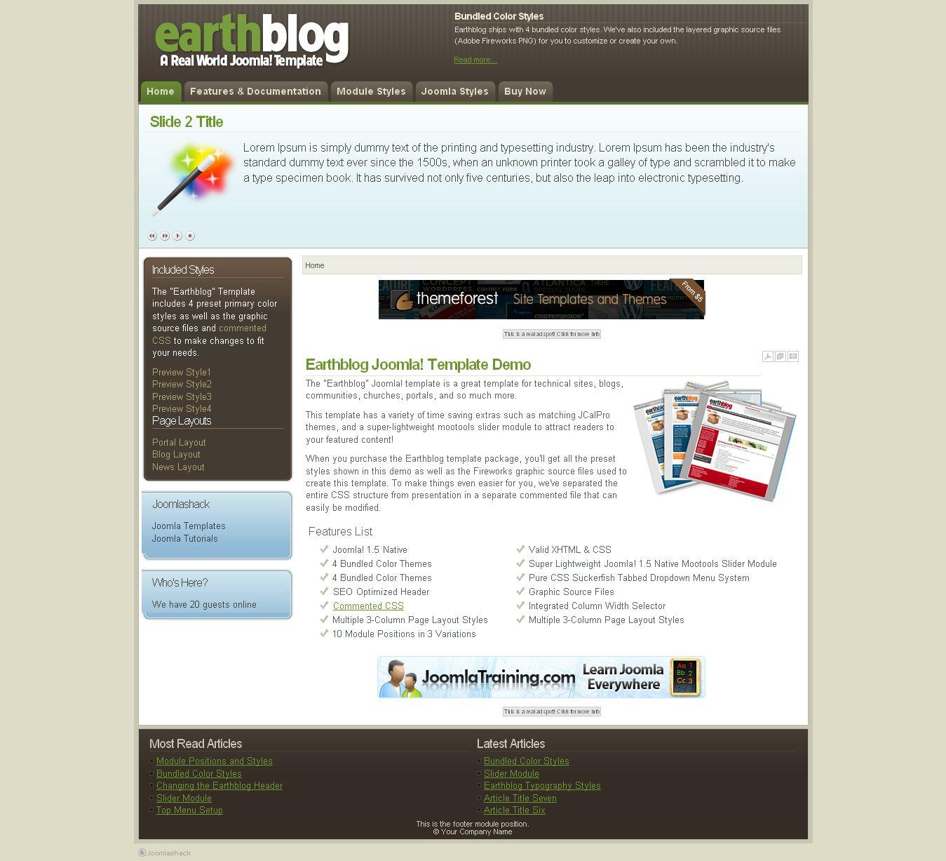 earthblog premium joomla template by joomlashack. Black Bedroom Furniture Sets. Home Design Ideas