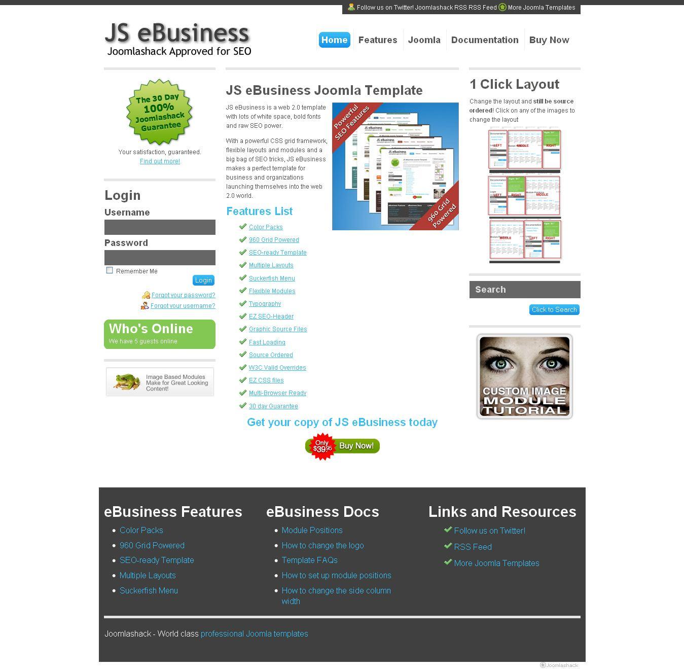 ebusiness premium joomla template by joomlashack. Black Bedroom Furniture Sets. Home Design Ideas