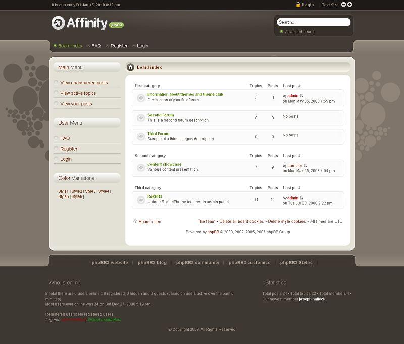 Affinity phpBB Style