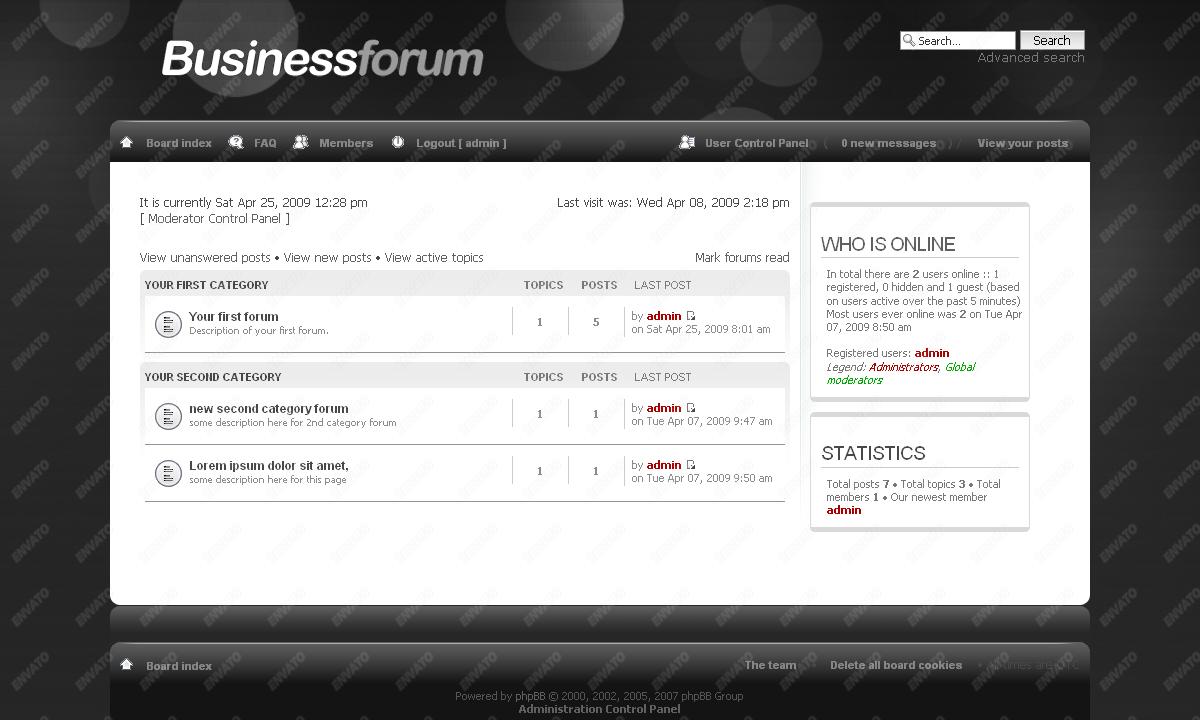 BusinessForum phpBB 3 Skin