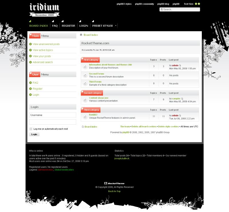 Iridium phpBB Style