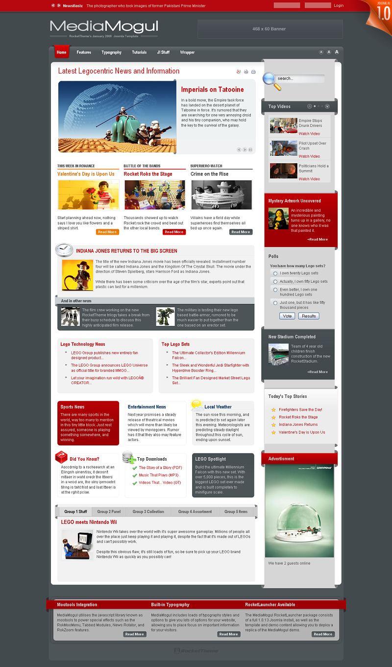 MediaMogul Premium Joomla Template by RocketTheme