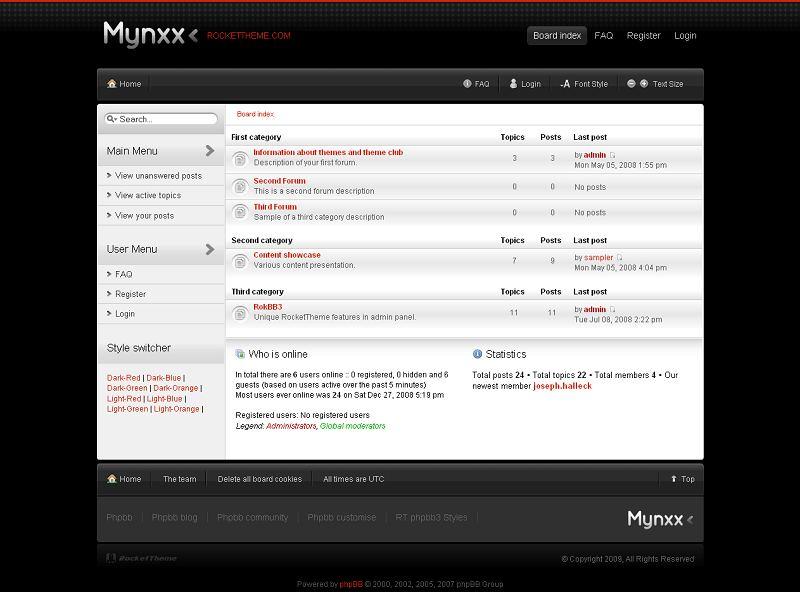 Mynxx phpBB Style
