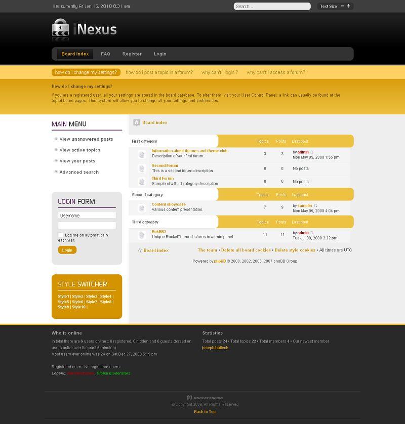Nexus phpBB Style