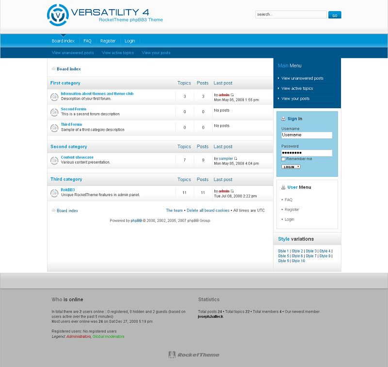 Versatility 4 phpBB Style