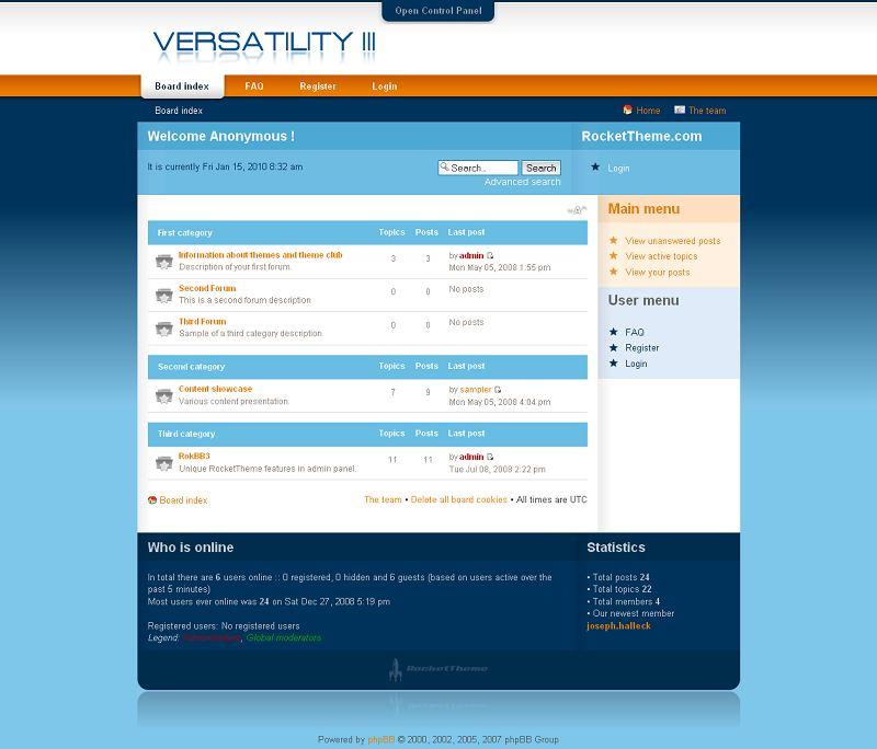 Versatility3 phpBB Style