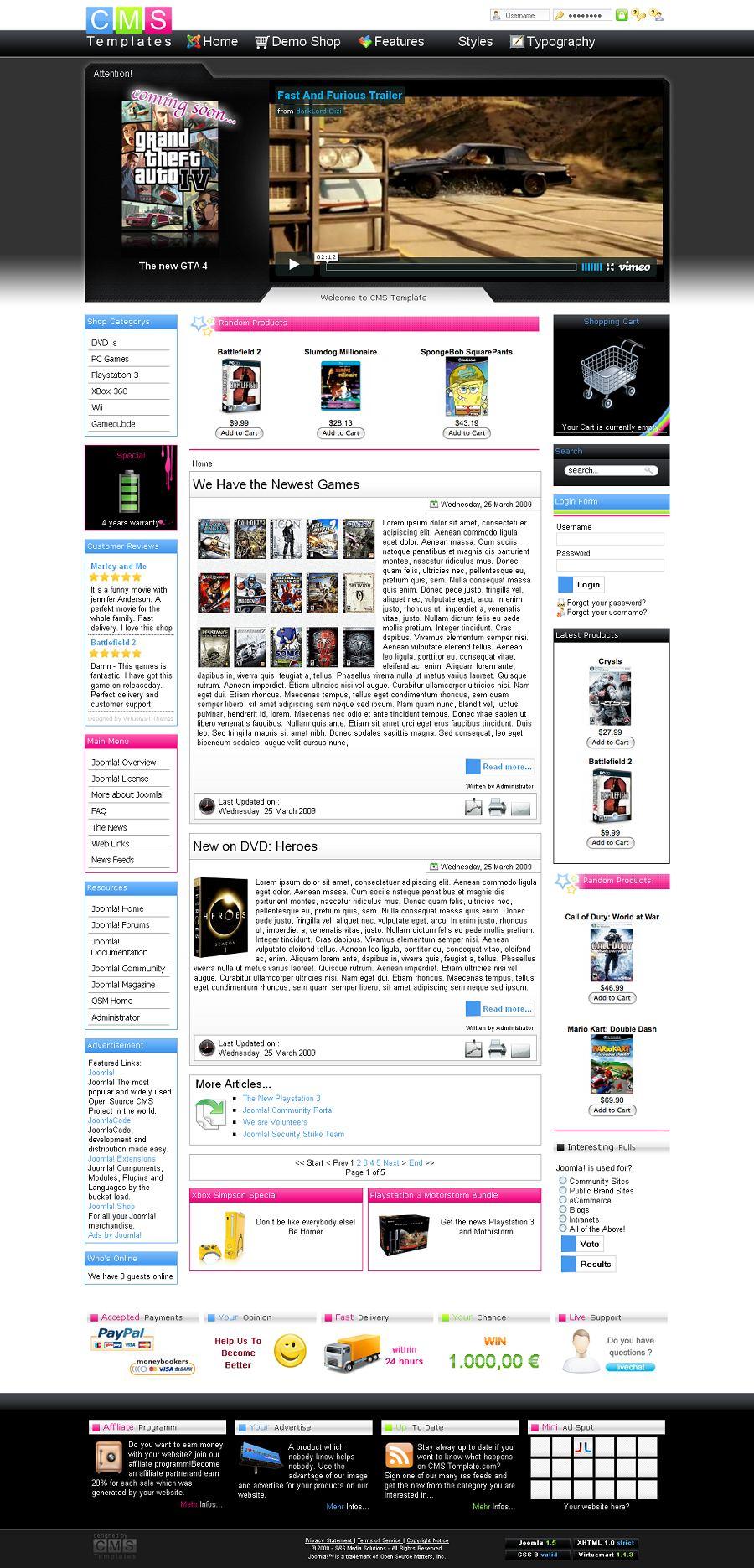 Media Mall Premium Joomla Ecommerce Template