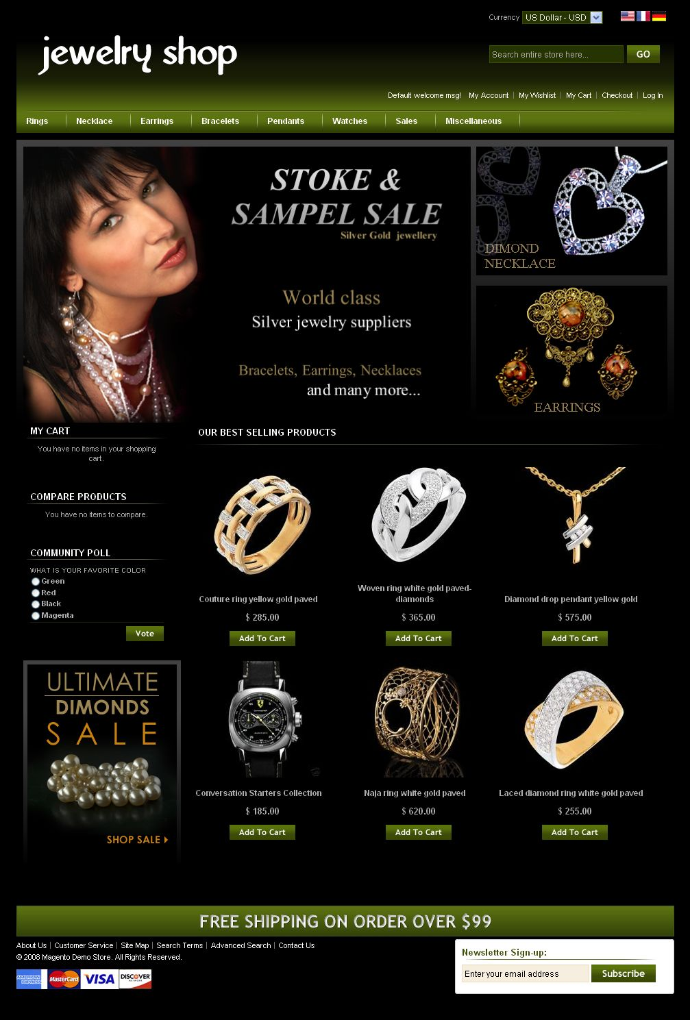 Jewelry Store Magento Theme Free