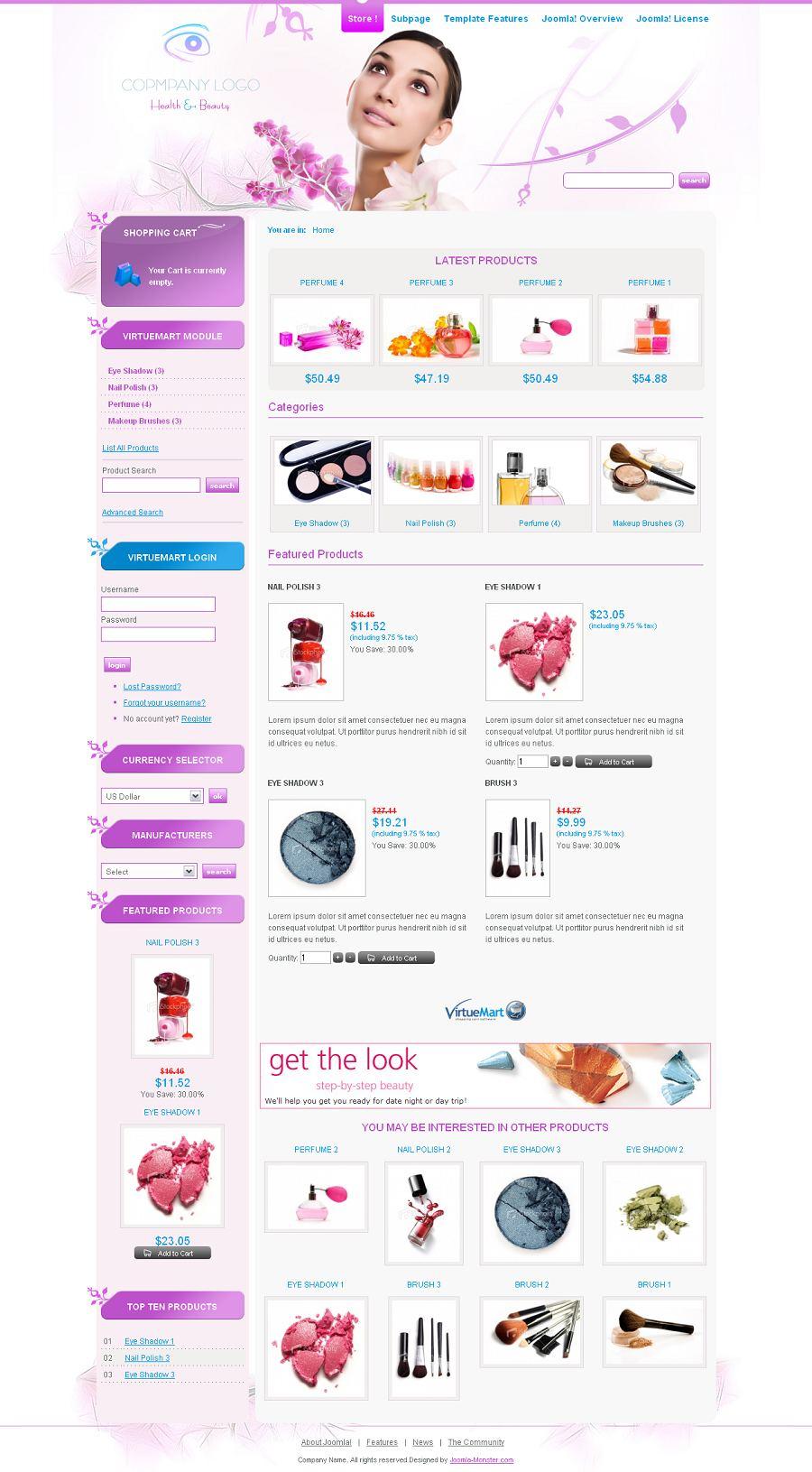 JM-Cosmetics-Store Premium Joomla Ecommerce Template