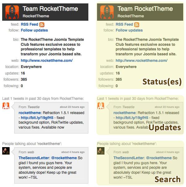 RokTwittie – Joomla Real Time Twitter Module