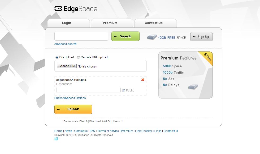 EdgeSpace XFileSharing Pro Template