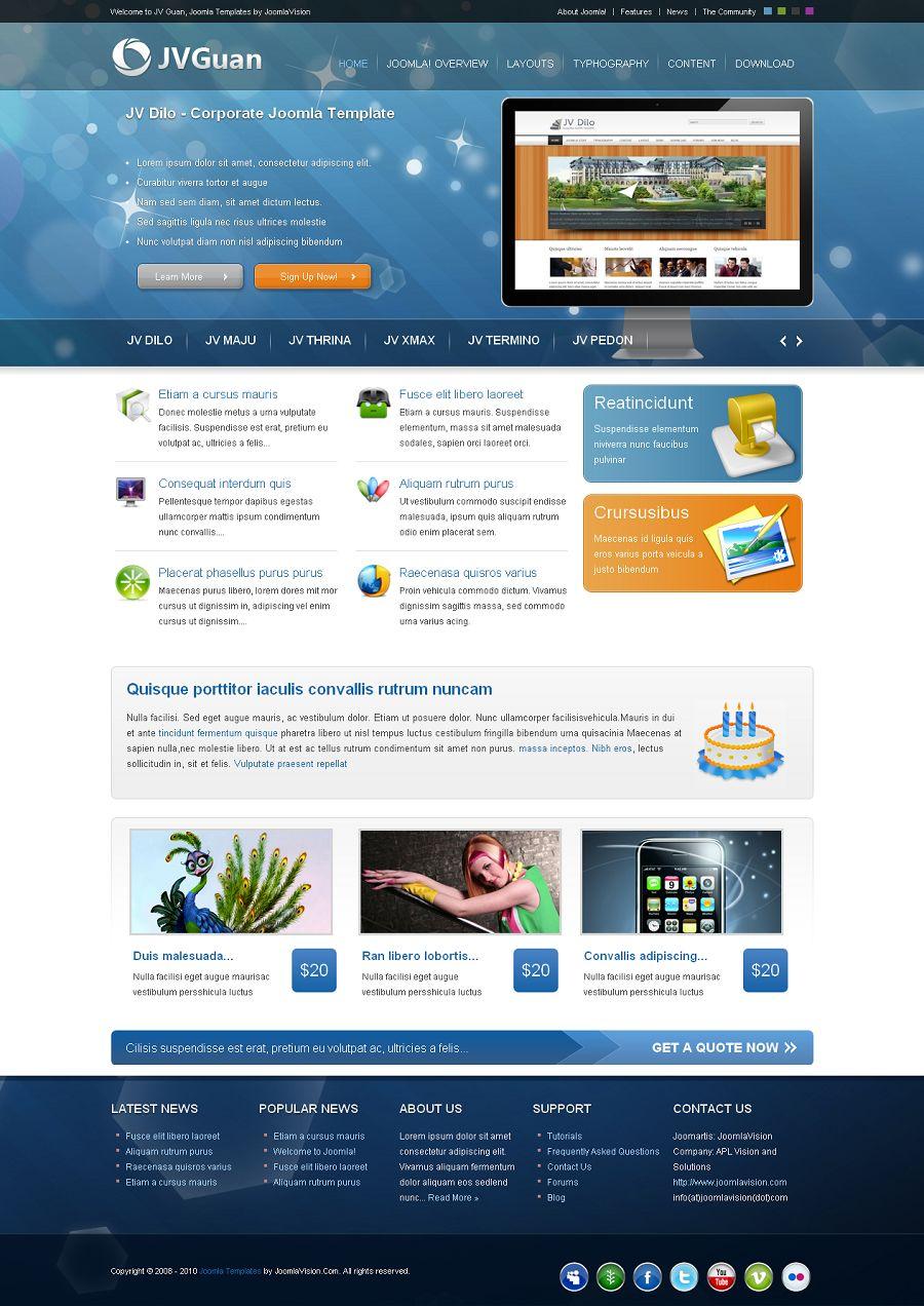 Jv Guan Premium Joomla Portfolio Template