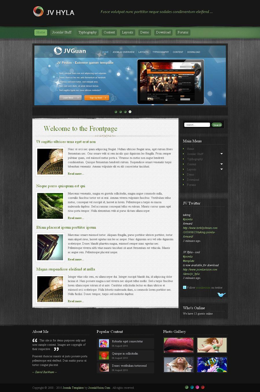 JV Hyla Premium Joomla Blog Template, Joomla Blogging Theme
