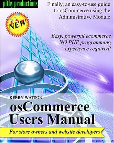 osCommerce Users Manual