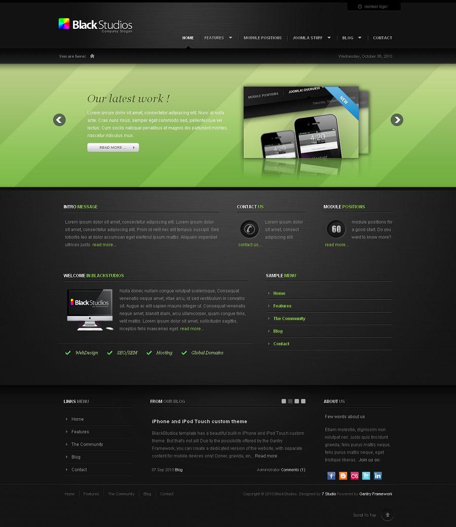 BlackStudios Premium Joomla Template from Theme Forest