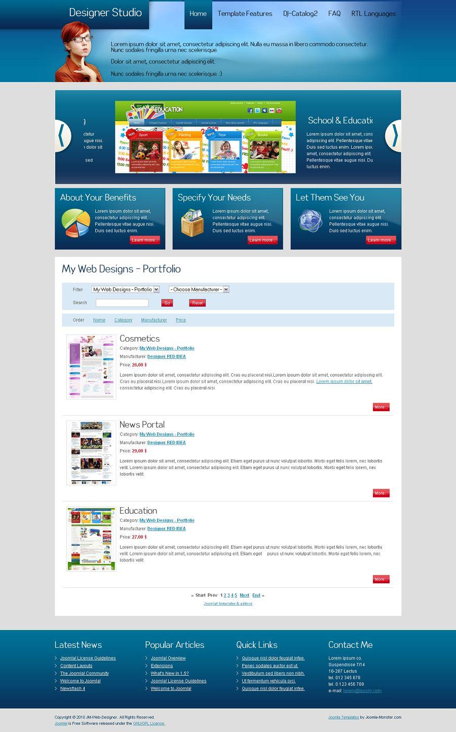JM-Web-Designer Premium Joomla Template for web designers