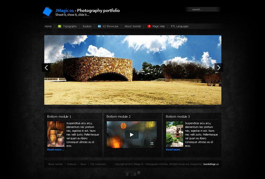 JMagic 01 Premium Joomla Photography Portfolio Template