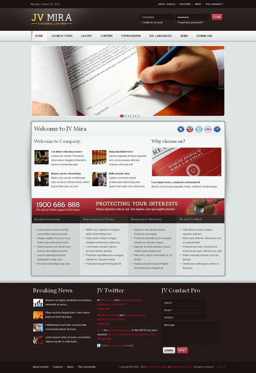 Jv Mira Premium Joomla Template For Political Websites