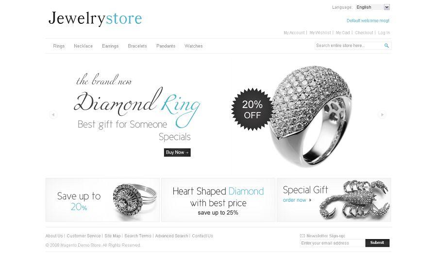 MAG070107 Premium Magento Jewelry Store Template