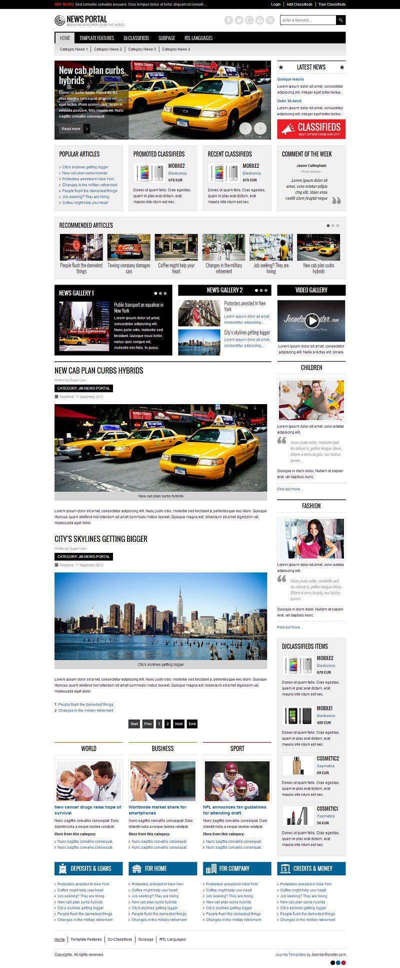 44 Best Magazine Joomla Themes - JooExplorer