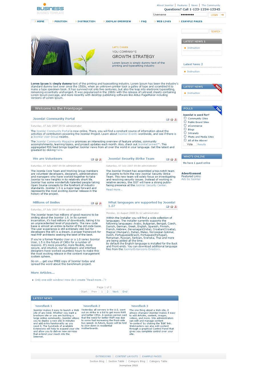 Simple Joomla Templates Simple Premium Joomla 1.5.x Native Template from JoomPlace