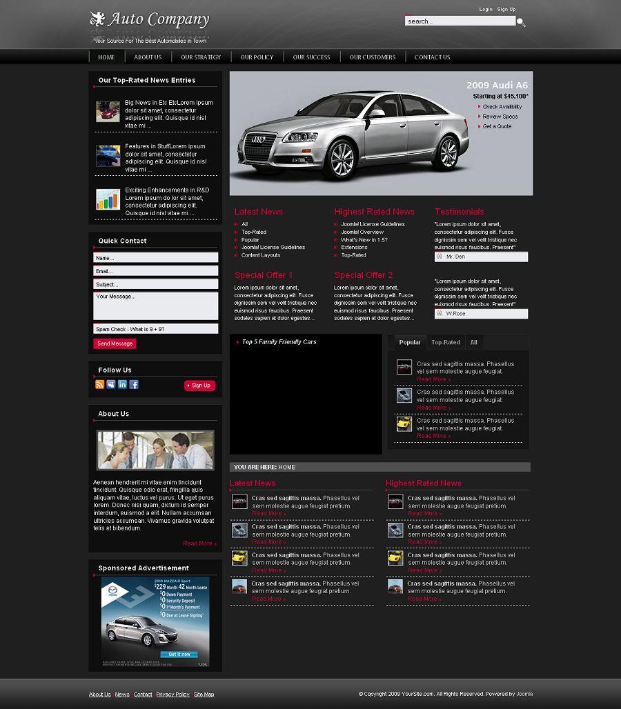 automobile websites images. Black Bedroom Furniture Sets. Home Design Ideas