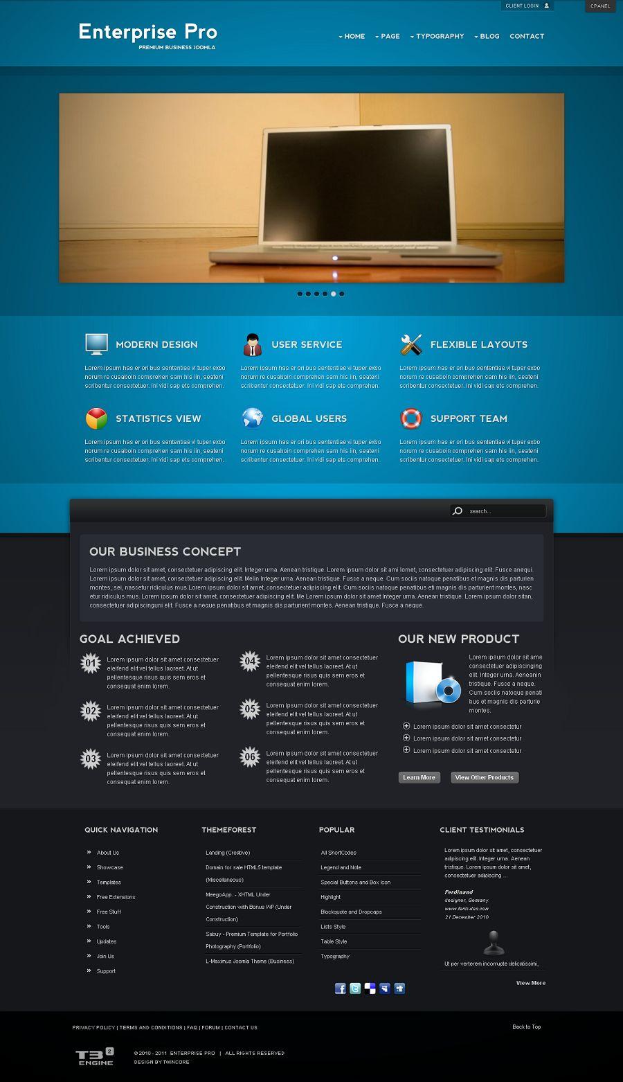 enterprise pro premium joomla business template. Black Bedroom Furniture Sets. Home Design Ideas