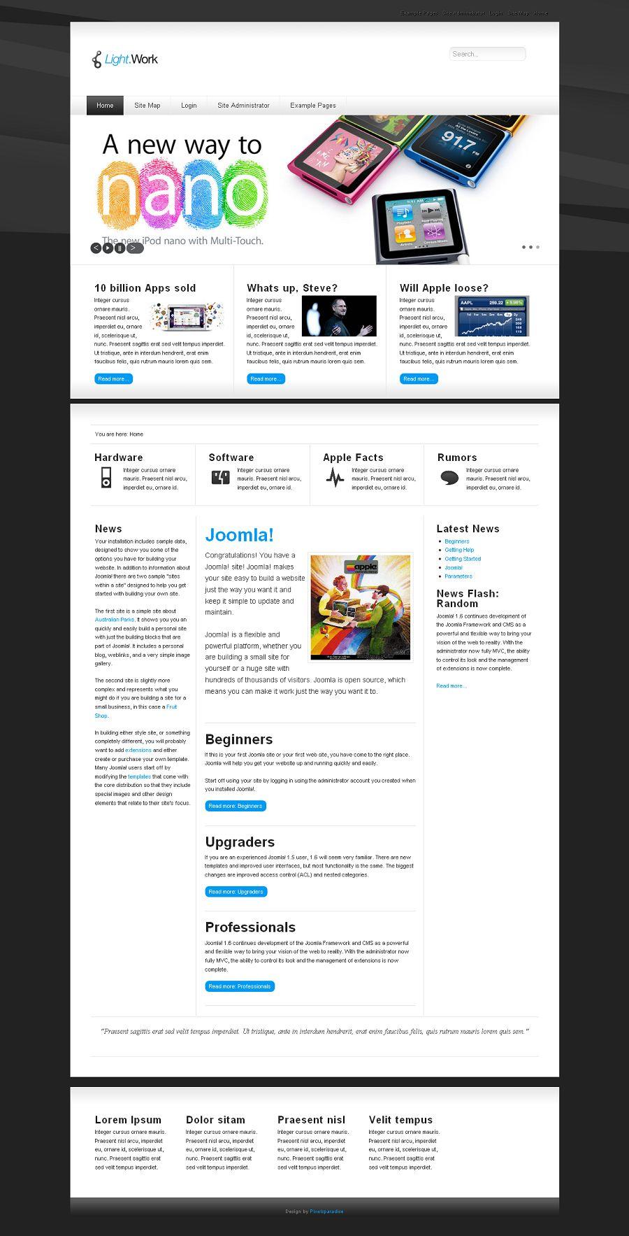 lightwork premium joomla business template. Black Bedroom Furniture Sets. Home Design Ideas