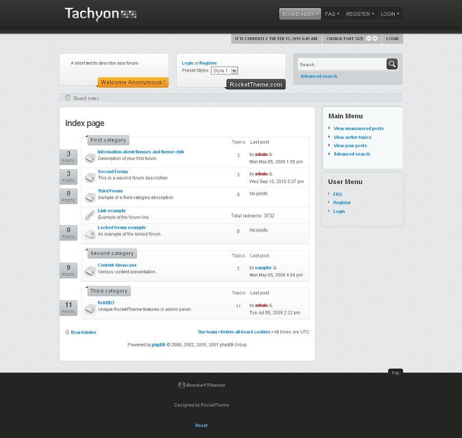 Tachyon phpBB3 Style