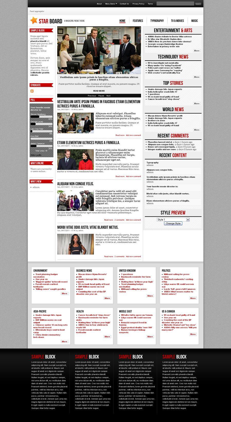 drupal themes magazine