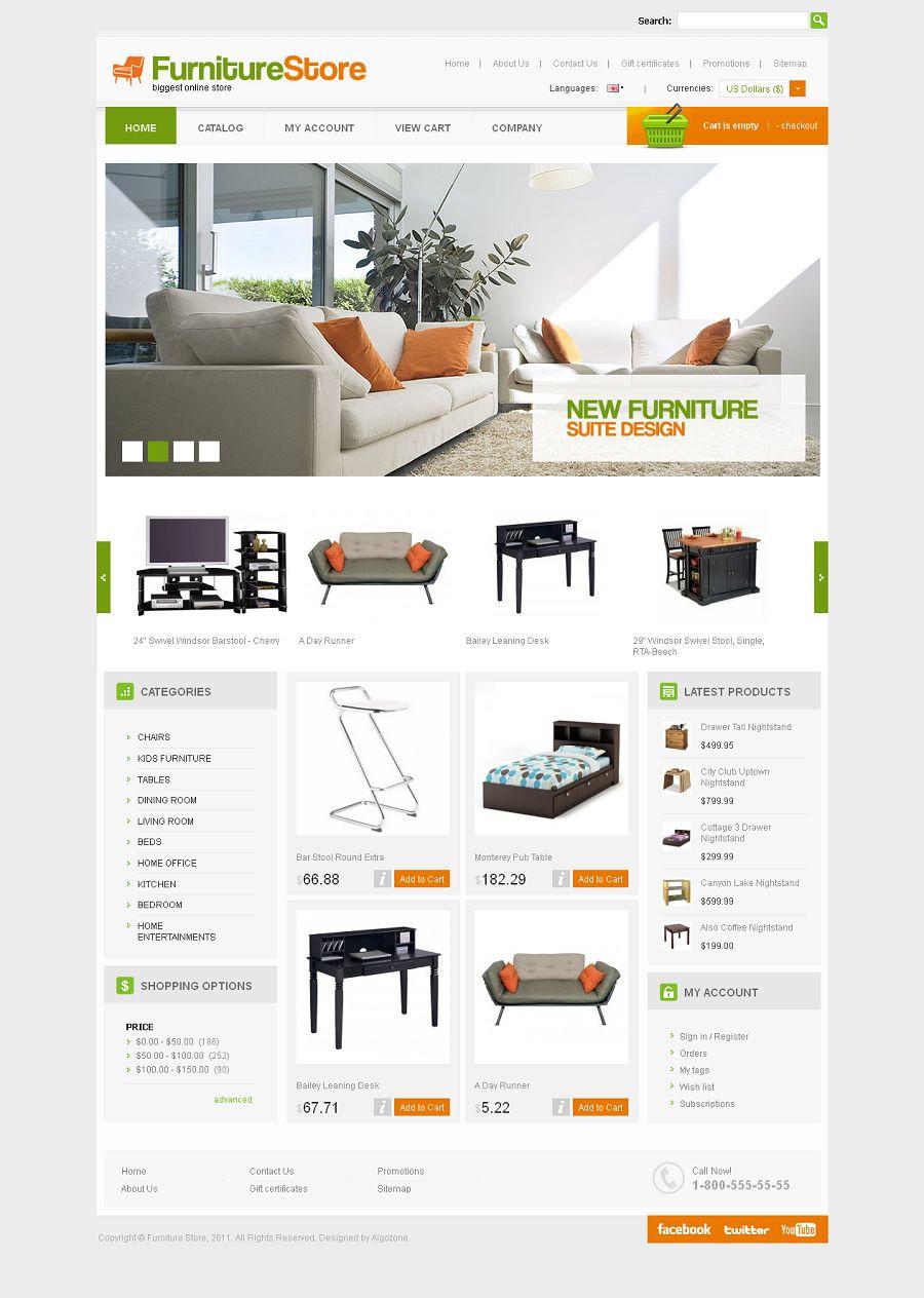 Cs03c20065 Cs Cart Template For Furniture Store