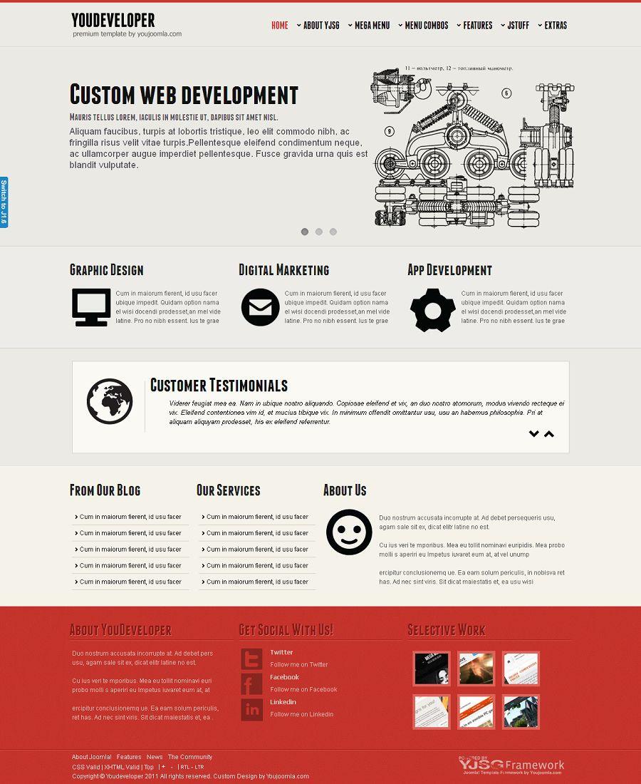 youdeveloper premium joomla developer portfolio template. Black Bedroom Furniture Sets. Home Design Ideas