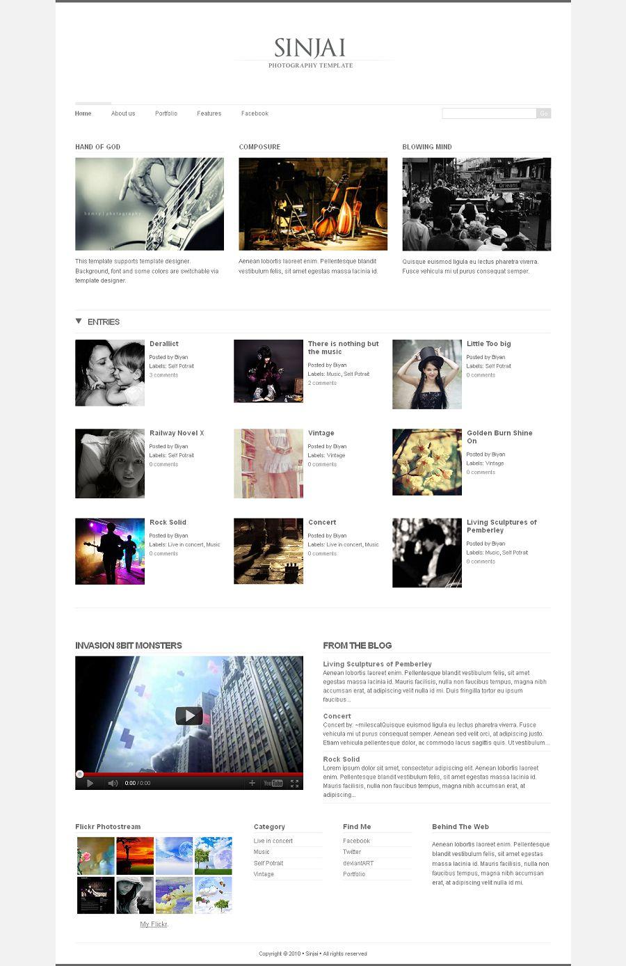 sinjai premium blogger template blogspot theme