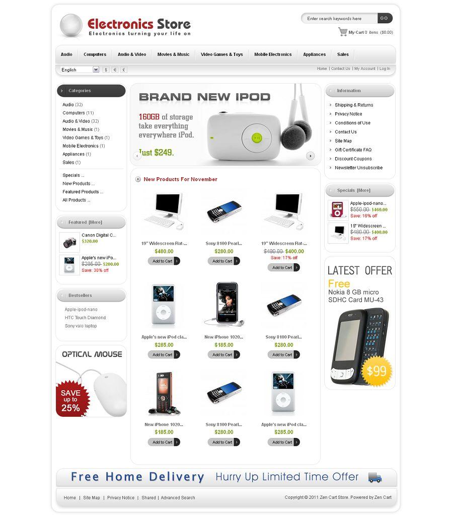 ZEN010008 – Electronics Store