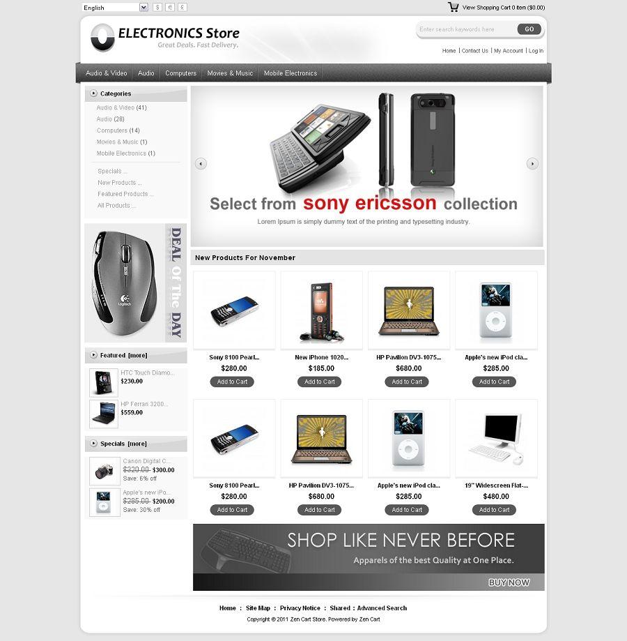 ZEN010010 – Electronics Store