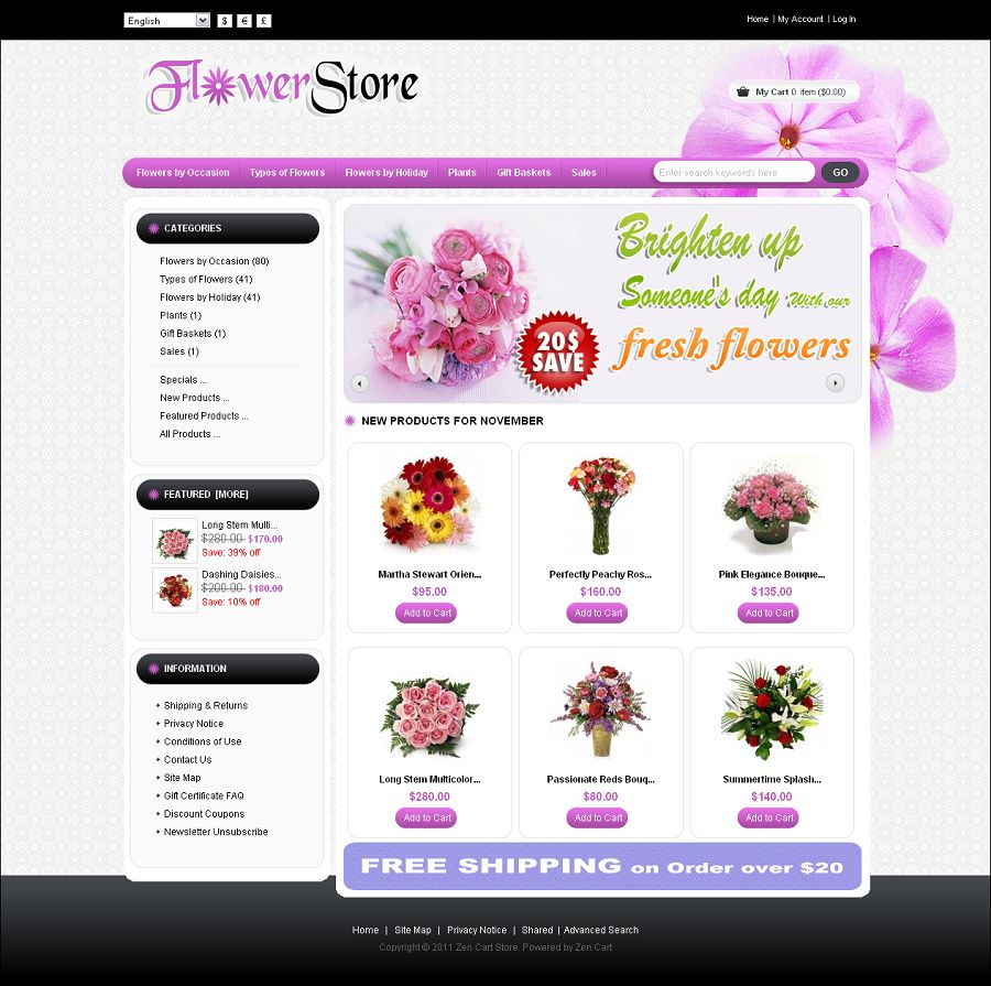 ZEN010013 – Flower Store