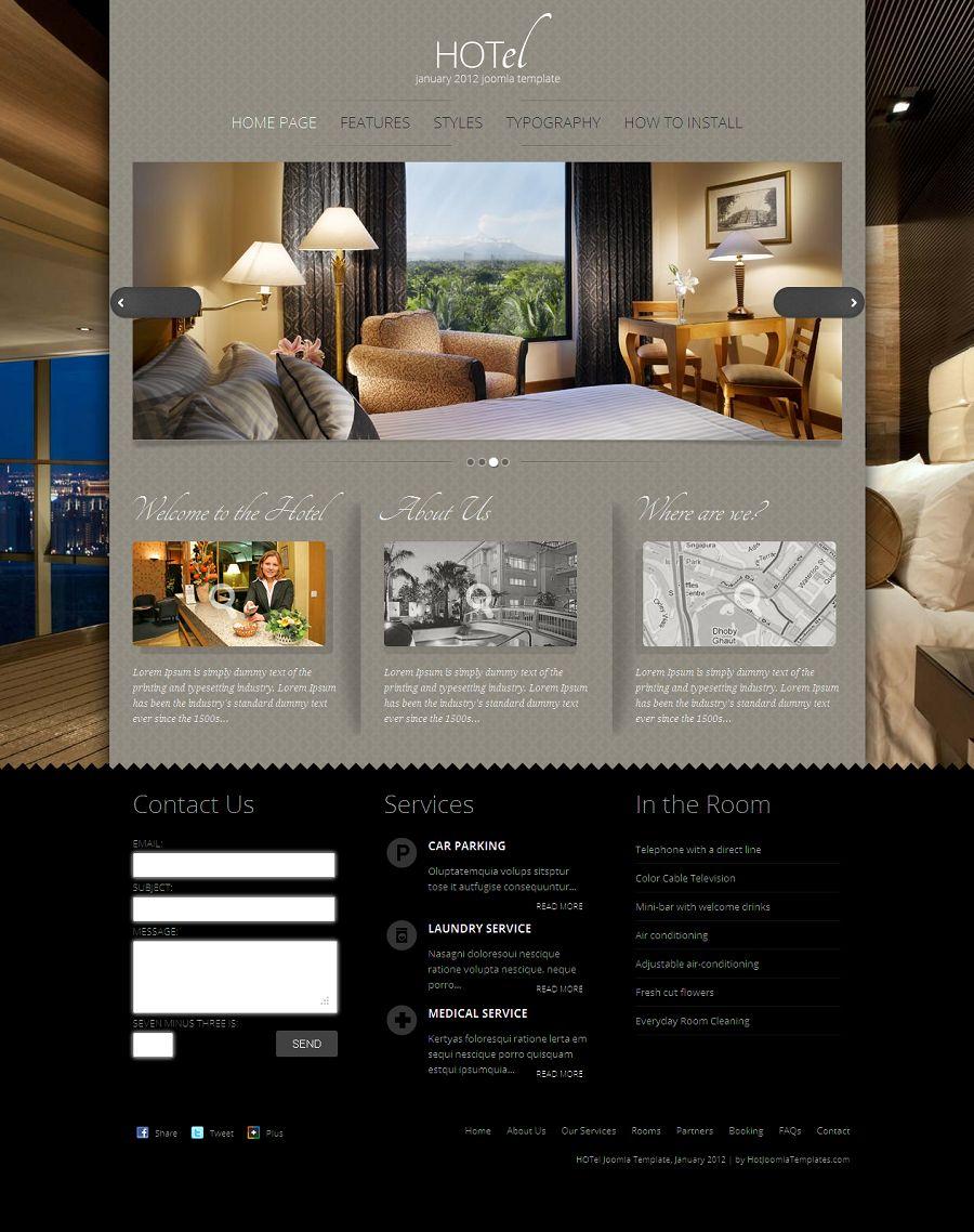 joomla hotel template - hot hotel premium joomla hotel template