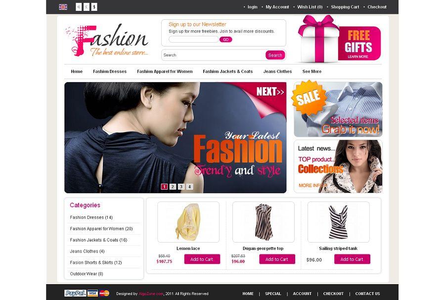 OC01A00515 Premium OpenCart Fashion Shop Template