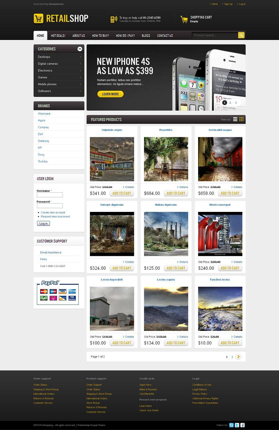 Retail Shop Premium Wordpress Ecommerce Template