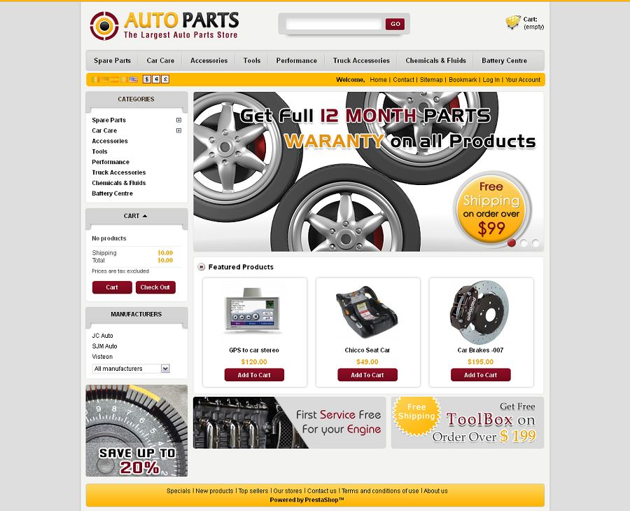 PRS030064 – Auto Parts Store