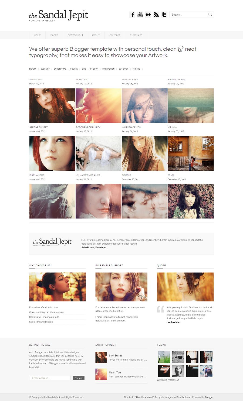 Sandal Jepit - Premium Blogger Template