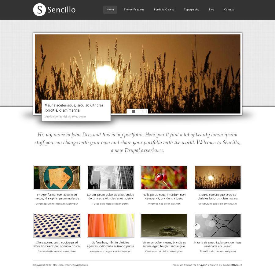 Sencillo - Premium Drupal Creative Portfolio Theme