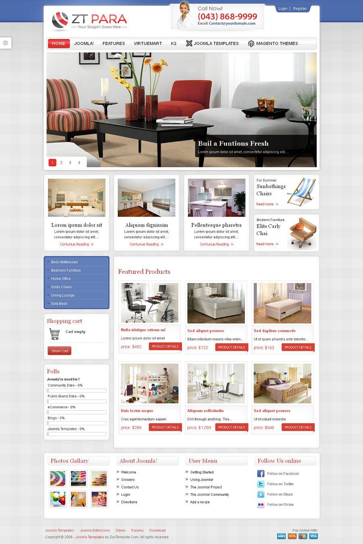 zt para premium joomla shopping cart template. Black Bedroom Furniture Sets. Home Design Ideas