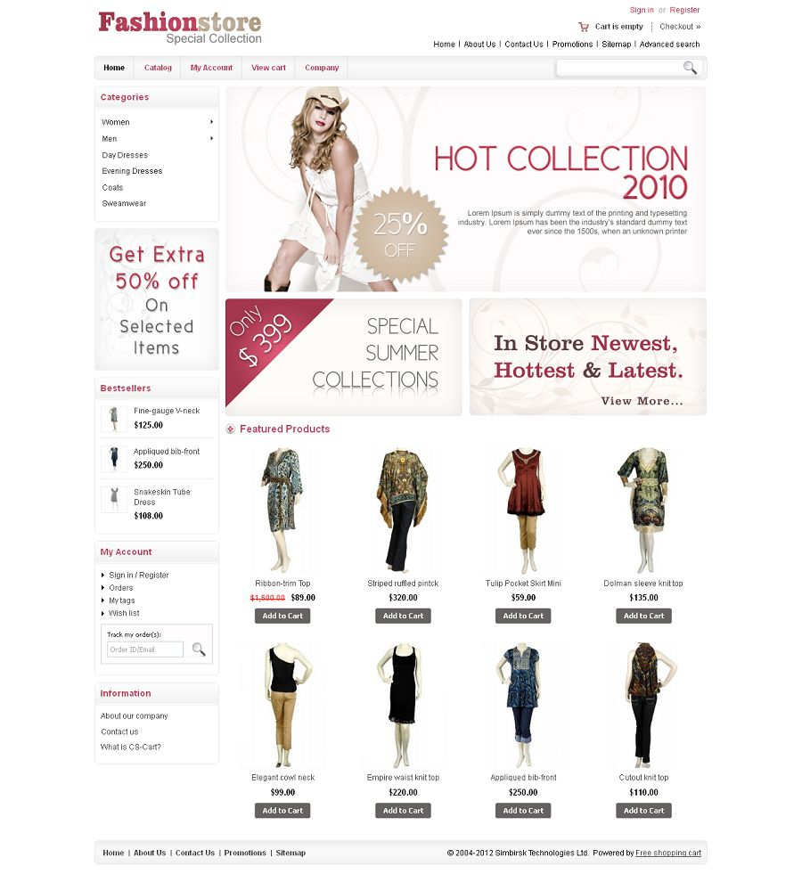 CST010012 – Fashion Store