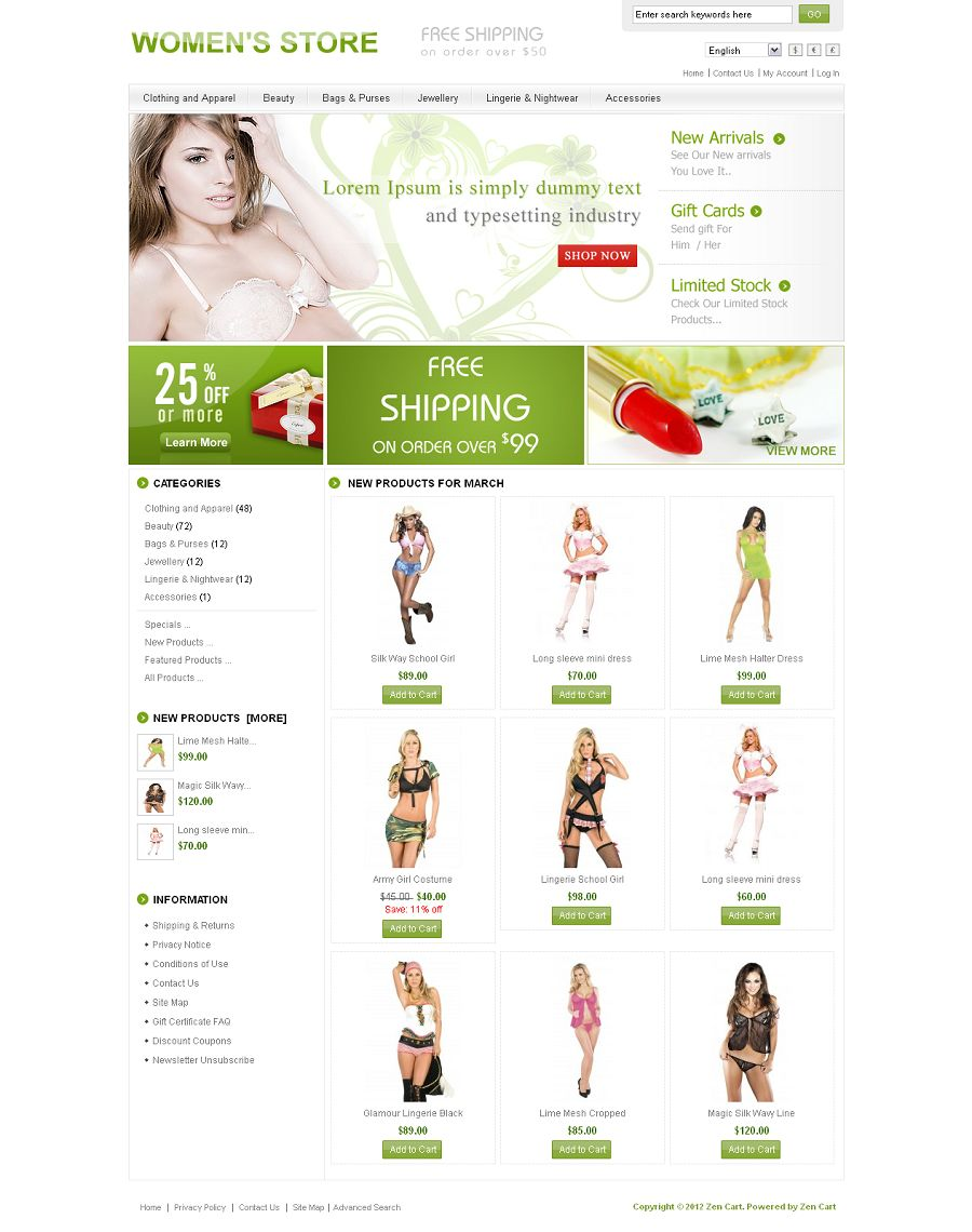 ZEN020046 – Women Store