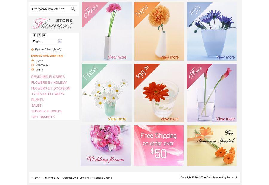ZEN030060 – Flowers Store