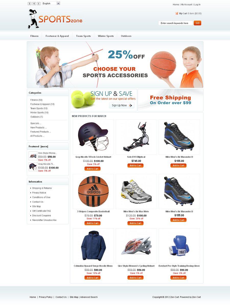 ZEN030063 – Sports Store