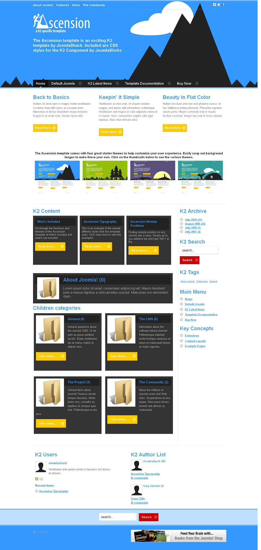 ascension premium joomla template from joomlashack. Black Bedroom Furniture Sets. Home Design Ideas
